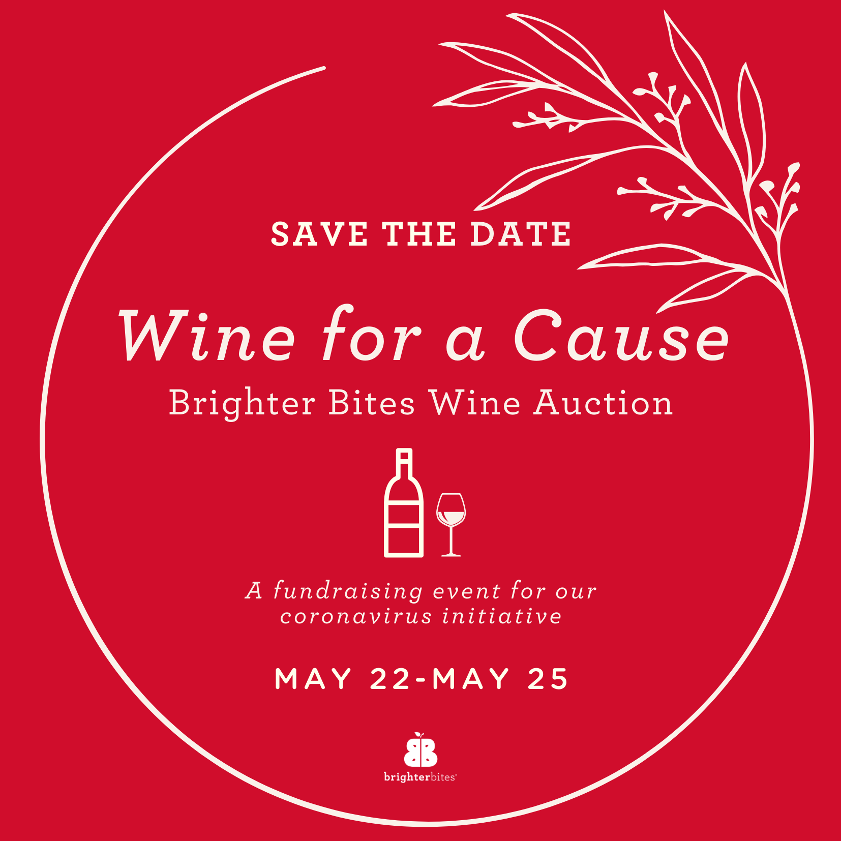 Save the date for Wine for a Cause